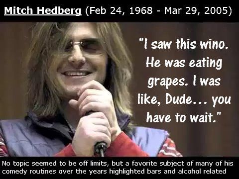 Mitch Hedberg Wine Jokes