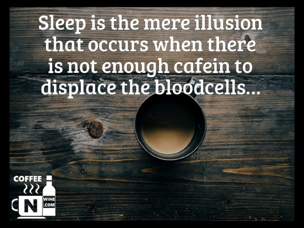 Sleep is the mere illusion that occurs when there is not enough cafein to displace the bloodcells - Quotes About Coffee