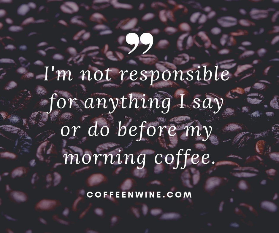 Im not responsible for anything I say or do before my morning coffee Facebook Twitter Pinterest