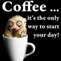 coffee to start your day - its the only way to start your day.