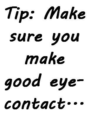 Coffee Shop Date Tips - Make Eye Contact