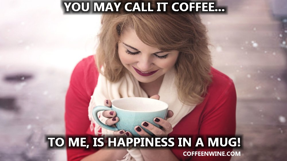 Coffee Happiness in a Mug Coffee Facebook Post
