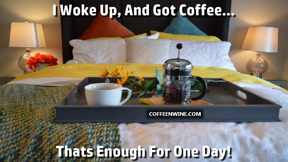 I Woke Up and Got Coffee That Is Enough For One Day