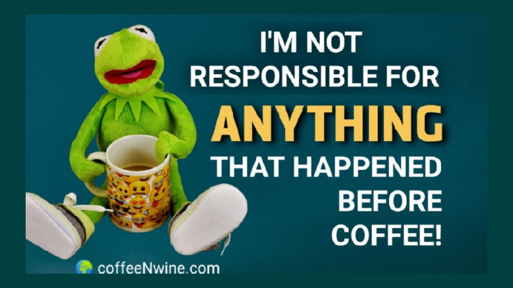 Not Responsible for Anything Before Coffee